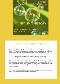 Invitation Healing History,Budapest, 2015