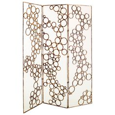 Bronze Folding Screen by Osanna Visconti di Modrone, Unique Piece | From a unique collection of antique and modern screens at https://www.1stdibs.com/furniture/more-furniture-collectibles/screens/