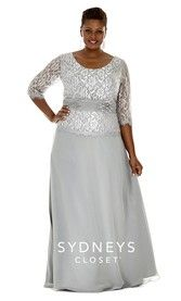 Chic Plus Size Evening Gown Lace Sleeves (SC4020)