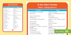 Te Reo Māori Teaching Resources - Primary School - Years - Page 10 Teaching Kids, Teaching Resources, English Translation, Learning Environments, Primary School, Writing, Phrase Book, Idioms, Poster
