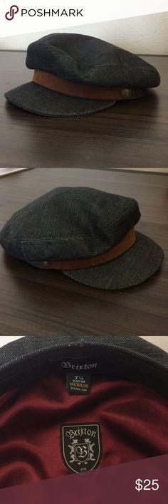 Brixton  Sailor s Cap (Denim  amp Leather) Classy cap for any occasion! 69c236e690d9