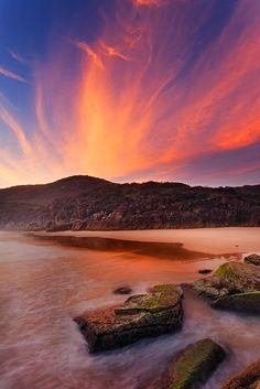 Sunrise in Little Bay, South West Rocks, Australia   tres  belle  couleur no  en  europa,,,,,**+