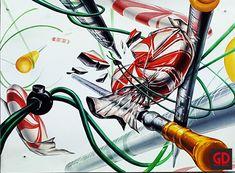 전주굿디자인미술학원 기초디자인 사탕 캔디 스포이드묘사 개체묘사 개체표현 의료기기 과학기구 과자묘사 Painting, Design, Painting Art, Paintings, Painted Canvas, Drawings