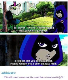 Teen Titans - Beast Boy and Raven Teen Titans Go, Teen Titans Funny, Dc Memes, Funny Memes, Cartoon Memes, Geeks, Original Teen Titans, Young Justice, The Villain