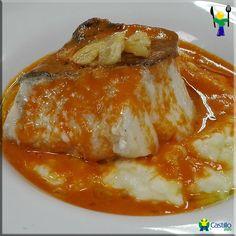 Bacalao Confitado con Cremoso de Patata y Vizcaína
