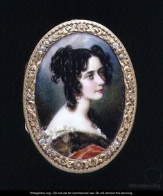 Portrait miniature of Georgina Carolina, Lady Astley, c.1827 - Simon Jacques Rochard