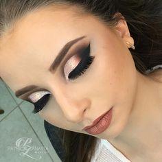 """740 Likes, 12 Comments - 🍀 PATRICIA ZANATTA 🍀 (@patriciazanattamakeup) on Instagram: """"Saindo agorinha essa Make linda do curso profissional !!! Cut Crease com a paleta T02 da Atelier…"""""""
