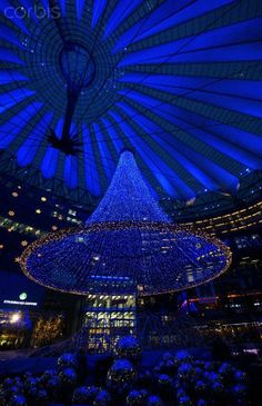 Christmas decoration in the Sony-Center, Berlin, Germany