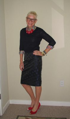 What We Wore: Pencil Skirts - Two Take on Style