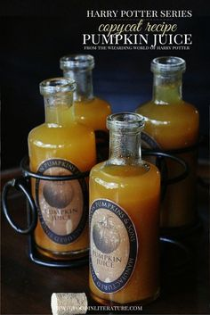 No Halloween is complete without the delicious pumpkin juice from Harry Potter. Fortunately, you can easily make your own with this copycat recipe! It tastes just like it and will make you feel like you're right back in Hogsmeade.