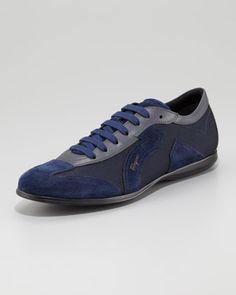 Nice... Mille Sneaker, Royal by Salvatore Ferragamo at Bergdorf Goodman.