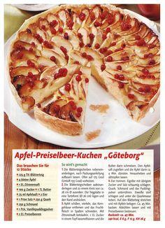 Apfel-Preiselbeerkuchen