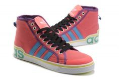 shop online outlet milano Trainer Uomo Adidas Originals High Top Canvas hot punch e blu cielo e nero