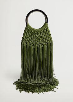 Emporio Armani, Fendi, Tory Burch, Sacs Design, Macrame Purse, Braid Designs, Crochet Fabric, Wishlist Shopping, Crochet Handbags