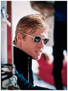 ebac289c9a12 Robert Redford in white framed shades Robert Redford