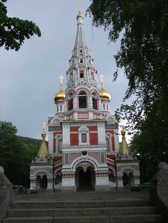 The church at Shipka. Mum and I nearly died of fright when the bells rang out!