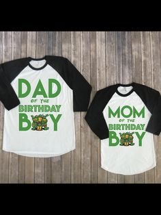 Mom and Dad of birthday boy- Teenage Mutant Ninja Turtles Version, TMNT party, TMNT birthday shirt, TMNT custom shirt, Matching tmnt ATTN: PLEASE ADD NAME AND NUMBER TO SELLERS NOTES Welcome to JADEandPAIIGE! Below is a list of sizing and washing instructions for our products!Please