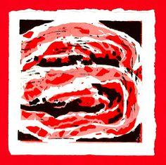 Bacon - Art Snack linocut from www.art-to-take.nl