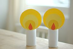 "dyi paper candles for singing ""This Little Light of Mine"""