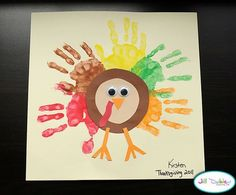 Easy Toddler Thanksgiving Crafts | Thanksgiving Corn Craft from Ramblings of a Crazy Woman