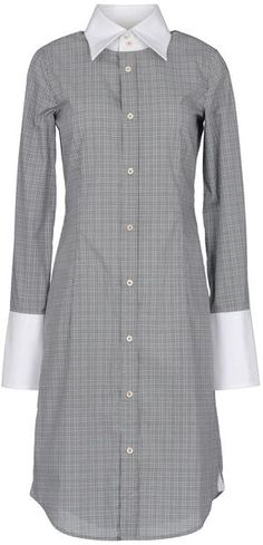 D Squared 2 Short Shirt Dress - Lyst....hmmmm with a brightly colored skinny belt!!