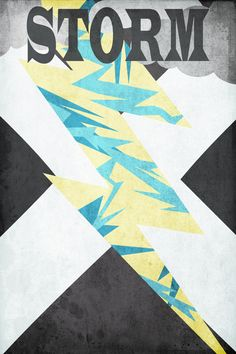 X-Men character posters created by etsy artist Harshness