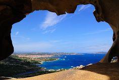 Uitzicht vanuit de 'Berenrots' op Sardinië