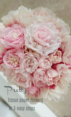 Making Tissue Paper Flowers, Tissue Paper Roses, Easy Paper Flowers, Tissue Flowers, Paper Flowers Wedding, Paper Flower Backdrop, Giant Paper Flowers, Paper Flower Tutorial, Flower Making