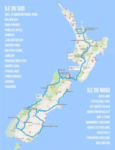 Un voyage en Nouvelle Zelande ça te branche hein? Viens voir notre itinéraire de notre voyage sur 3 semaines. T'as même une carte interactive google ;)
