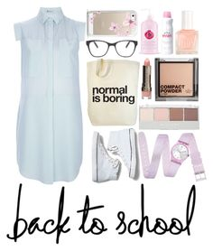 """bck 2 school"" by michelledhrm ❤ liked on Polyvore"