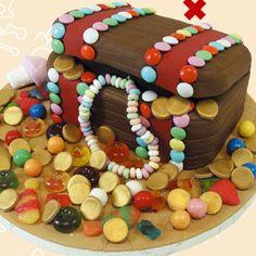 Τούρτα Σεντούκι Πειρατή, Παιδικό Πάρτι, Τούρτα Πειρατής, Συνταγές,Δώρα : kidsfun.gr