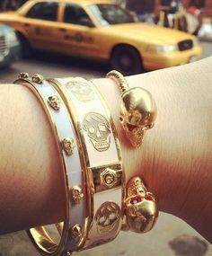 Skull Bangle Bracelets <3