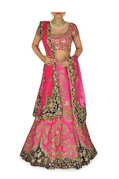 Rani Pink color Bridal lehenga choli – Panache Haute Couture