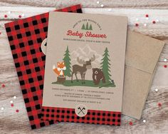Invitation from a Woodland Animal + Lumberjack Baby Shower via Kara's Party Ideas! KarasPartyIdeas.com (20)