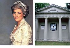 Princess Diana's grave at Althorp House, Northampton, England. She died on August 31, 1997, and her funeral was on September 6th.