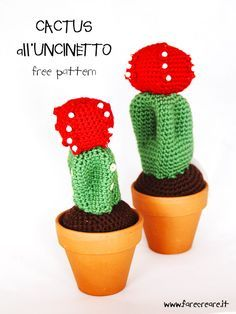 Un'altra pianta grassa amigurumi che entra nella nostra collezione, ecco lo schema gratuito per realizzare il Cactus all'uncinetto .