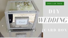 Bling Wedding Card Box with items from Dollar Tree. This DIY is great for Bling Weddings, Bridal Showers, or any Glam celebration. All items . Homemade Wedding Cards, Wedding Gift Card Box, Diy Wedding Gifts, Wedding Boxes, Wedding Ideas, Wedding Table, Wedding Colors, Wedding Decor, Wedding Stuff