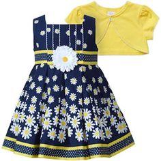 Youngland® Daisy Dress w/ Shrug - Girls 12m-24m - jcpenney