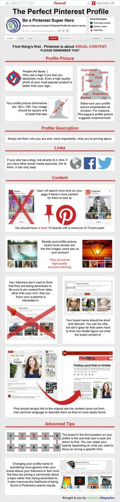 The perfect Pinterest profile #infographic