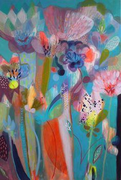 Art by Becky Blair Art Floral, Artist Painting, Painting & Drawing, Arte Pop, Botanical Art, Love Art, Painting Inspiration, Garden Art, Illustration Art