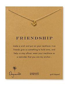 "Dogeared Friendship Anchor Necklace, 18"" - Necklaces - Jewelry - Jewelry & Accessories - Bloomingdale's    Thinking of you guys - @Kasey Booker Ainsley @Amy Paul @Elizabeth Vaughan"