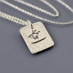 Sterling Silver Layered Branch Necklace by Lisa Hopkins Design