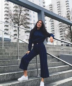 "9,933 Likes, 76 Comments - Monki (@monki) on Instagram: ""#monkistyle alert @nilaaaaaaaa in our wide leg denim trousers Get urs thru the in bio"""