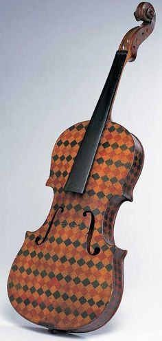 this c.1830 watercolor...pencil...ink on wood American Folk Art violin is music to my eyes....