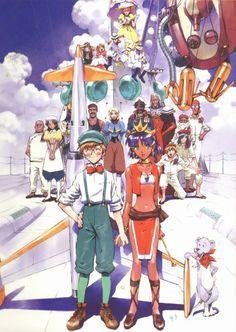 Yoshiyuki Sadamoto, Nadia: The Secret of Blue Water Jules Verne, Anime Style, Anime Mangas, Manga Anime, Anime Art, Hayao Miyazaki, Grey Hair, Brown Hair, Black Hair