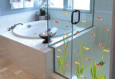 bañera y ducha. Imagen de Plage Vinilos