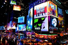 """Right in the heart of Times Square are some of your favorite plays and musicals. Get the full NYC effect and take in a nice Broadway Show. Theatre District Restaurants are always a good """"hit the spot,"""" before or after any show. Places In New York, Go To New York, Places To Visit, Greenwich Village, New York City, New York Attractions, Times Square New York, Before I Die, Blog Voyage"""