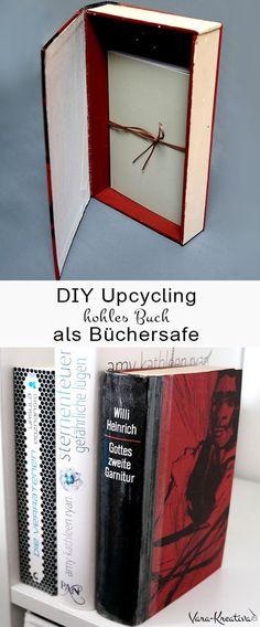 DIY Upcycling, DIY Buch, Büchersafe, Bücherversteck, Buchversteck, Buchsafe, hohles Buch, Vara-Kreativa, Büchersafe selber machen