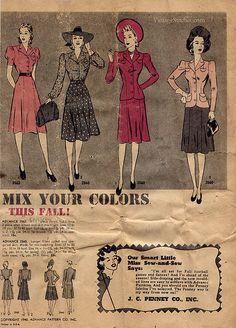 Advance Pattern Fashion News October 1940 | VintageStitches.com