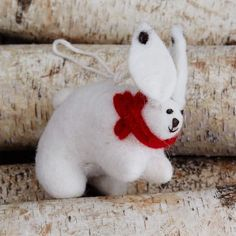 Felt Rabbit Ornament | west elm